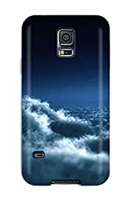 New Style Snap On Case Cover Skin For Galaxy S5(moon Over Clouds) 6137426K89172800
