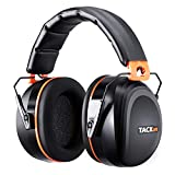 Ear Muffs Noise Cancelling TACKLIFE Shooter Safety Hearing Protection, Folding-Padded Head Band Ear Cups, NRR 28dB (SNR 34dB) Professional Ear Defenders for Hunting, Shooting, Construction work | HNRE1