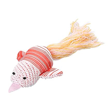 Cat Toys - 2019 Lovely Cat Toys Pet Kitten Chew Plush Cartoon Animals Fish Cotton Rope Shape Bite Toy Gatos - Treat Active Spring Feather Track Best Wand ...