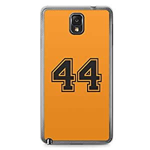 44 Samsung Note 3 Transparent Edge Case - Numbers Collection