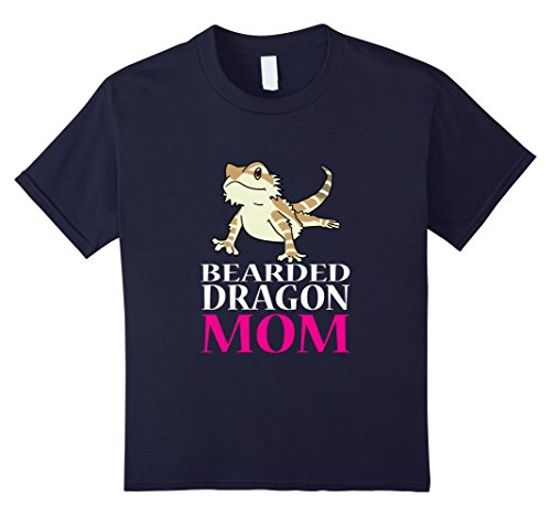Bearded Dragon Costume Halloween (Kids FUNNY BEARDED DRAGON MOM T-SHIRT Pet Owners Lizard Gift 10 Navy)