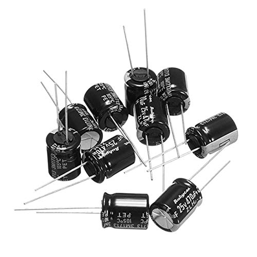 Part & Accessories 10 PCS 25V 470UF Multirotor FM Series PDB Capacitor 8x12mm for Power Distribution Board PDB for RC Racing Models DIY Spare Parts