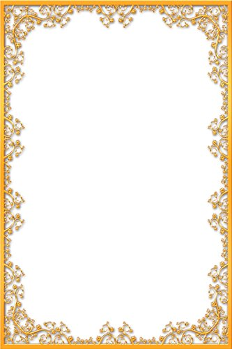 LAMINATED 24x36 Poster: Frame Ornate Gold Vintage Portrait Picture Empty Aged Deco Elegance Exhibition Framework Photo Photography Wall Antique Design Retro Border Classic Decorative