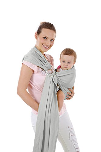 Infant Baby Carrier Sling - Ultra Soft, Comfortable & Safe Child Wrap - Quick Dry and Breathable for Newborn Toddlers(Dark Gray)