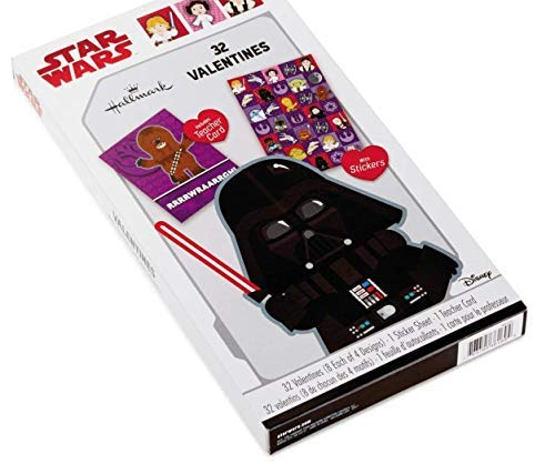 Star Wars Valentines for Classroom - 32 Valentines with Teacher Card