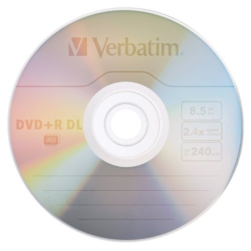 verbatim 8 5 gb 2 4x double layer recordable disc dvd r dl. Black Bedroom Furniture Sets. Home Design Ideas