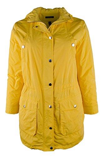 Lauren Ralph Lauren Womens Hooded Outerwear Coat Yellow XL by RALPH LAUREN