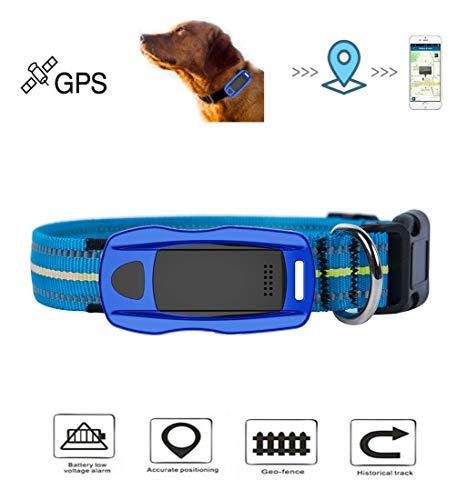 Dog GPS Tracker - Lightweight GPS Dog Finders Waterproof Dog Tracking Device GPS Dog Collar Locator (Blue)