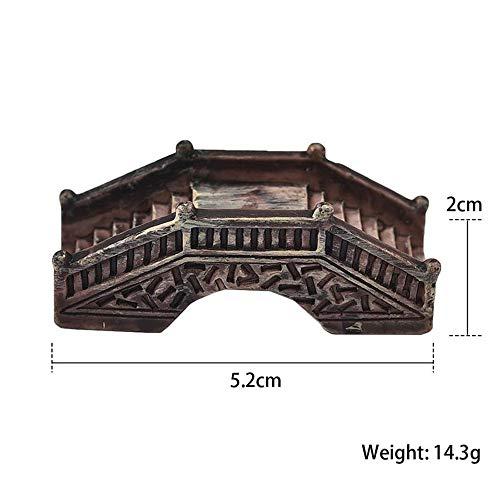 (CNKSio Mini Stone Arch Bridge Garden Miniatures Resin Ornaments Micro Landscape Home Garden Decoration,Color 003)