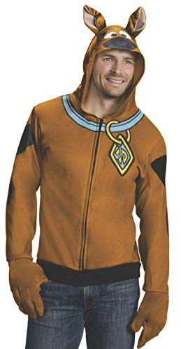Rubie's Men's Scooby Doo Hoodie, Brown,