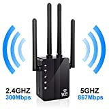 WiFi Range Extender, Anther 1200Mbps WiFi Repeater 2.4 & 5GHz Dual Band Signal