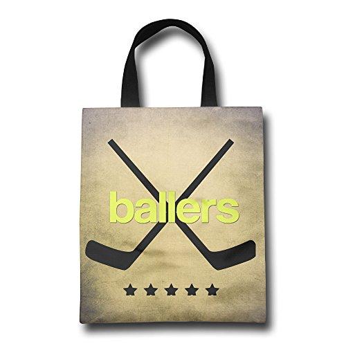 DCM500 Cotton Shopper Bags Jet Printed Love Ballers Retail Beach Bag For Women & Men.One Size ColorKey