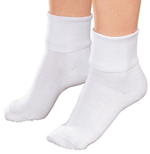 Buster Brown Ankle Socks - White - Large,3-pack ()