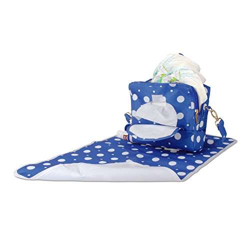 Portable Baby Diaper Changing Station Bag – Holds Lined Changing Pad, Built in Baby Wipes Pouch and All You Need for a Quick and Easy Change