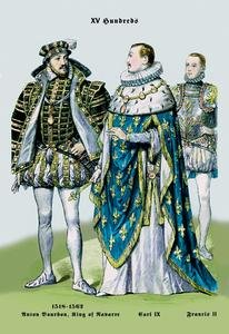 - Anton Bourbon, King of Navarre, Carl IX, and Francis II, 16th Century Fine Art Canvas Print (20