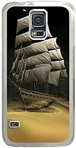 Chevron Retro Vintage Tribal Nebula Pattern Galaxy S5 Cases - Compatible With Samsung Galaxy S5 SV i9600 - Hard Shell Transparent Samsung Galaxy S5 SV i9600 Cover Cases SHIP In Desert