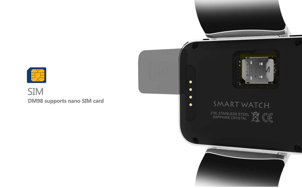 Amazon.com : Kariwell DM98 Bluetooth Smart Watch, Waterproof ...