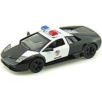 5 Lamborghini Murcielago LP640-4 Police1:36 Scale (Black/White) by Kinsmart