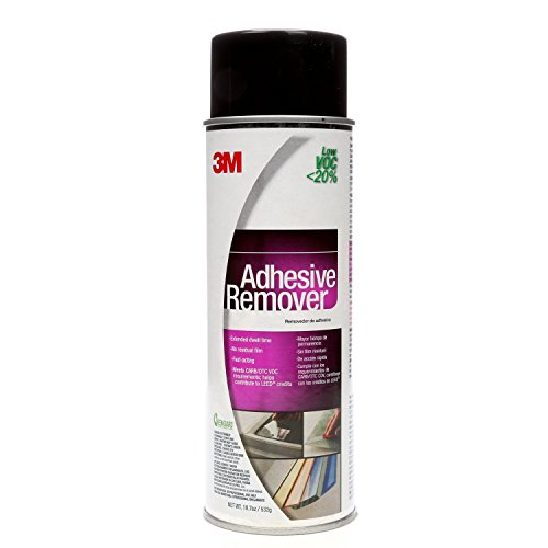 3M Adhesive Remover - Low VOC <20% Clear, 24 Fl Oz Aerosol, Net Wt 18.7 oz (Pack of (Adhesive Sealant Remover)