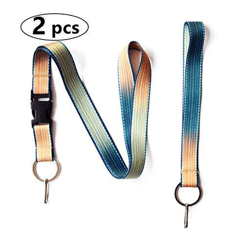 Crimmy Fashion Lanyard for Women, Badge Holder Double Sided Neck Strap Band Lanyard with Buckle, Keychain (9214) ()