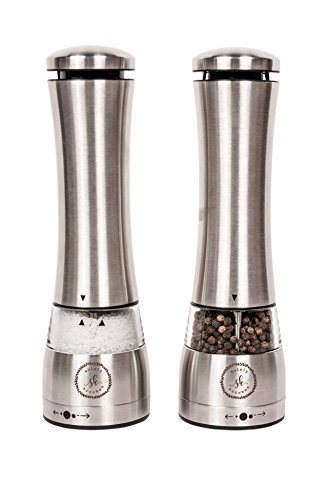 Electric Salt And Pepper Grinder Set By Automatic Large Capacity