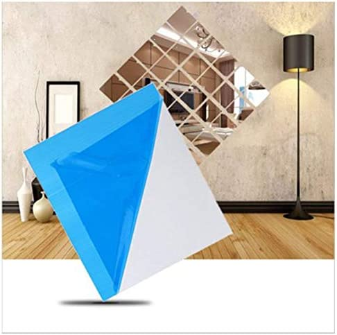 16pcs Mirror Mosaic Tile Wall Stickers Decal Home Decor Self Adhesive
