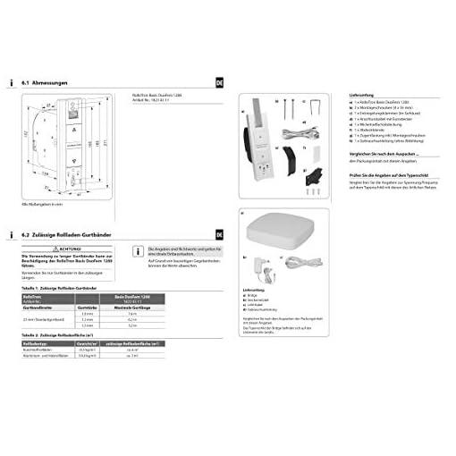 Rademacher Start2Smart – Kit de bobinadora de correa para principiantes (incluye puente y RolloTron, base DuoFern 1200-UW, bobinador eléctrico por radio)