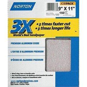 Norton Abrasives Norton 02627 9'' x 11'' Prosand P150B Bulk 100Pk - 500ct. Case by Norton Abrasives - St. Gobain (Image #1)