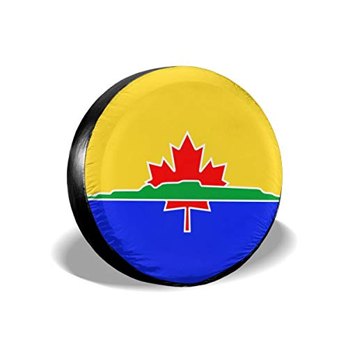 (BHSBC.L Flag of Thunder Bay Waterproof Spare Tire Cover Dust-Proof Universal Spare Wheel Tire Cover Fit for Jeep, RV, SUV and Many Vehicle (14,15,16,17 Inch))