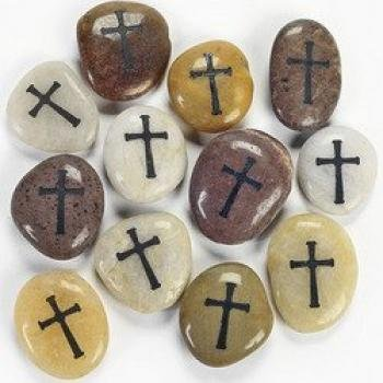 Cross Worry Stones (1 Dozen) - Bulk