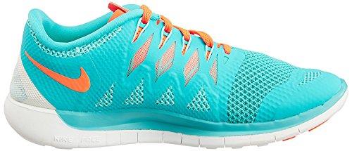 Nike Kvinna Fri 5,0 Löparskor Grön / Orange / Vit Färg Storlek 10.5 Oss
