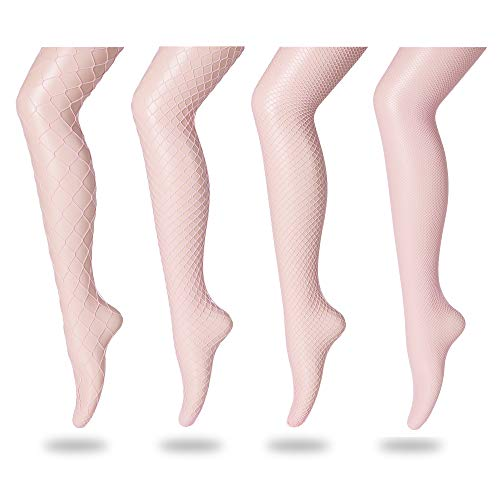 FLORA GUARD High Waist Tights Fishnet Stockings, High Waist Sexy Fishnets Pantyhose -