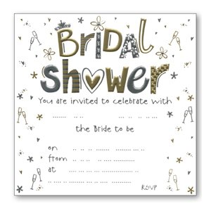 Luxury bridal shower invitations pack of 10 amazon office luxury bridal shower invitations pack of 10 filmwisefo
