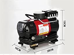 RUIRUI Portable Travel Multi-Use Air Pump Compressor/Inflator with Digital Gauge and Worklight.
