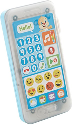 Fisher-Price Laugh & Learn Leave A Message Smart Phone, Puppy (Toy Cell Phone For 1 Year Old)