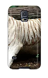 New White Bengal Tiger Tpu Case Cover, Anti-scratch TknzsPb8197BzoYf Phone Case For Galaxy S5