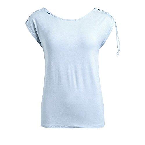 Sin Mangas Claro Azul Deportiva Básico Mujer Para Camisa Khujo tHPBwI