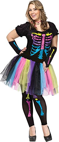 Punk Costume Ideas (Funky Punk Bones Adult Plus Costume 16-22 Adult Womens Costume)