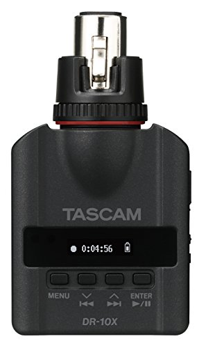 Tascam DR-10X Plug-On Linear PCM Digital Recorder for XLR Microphones by Tascam
