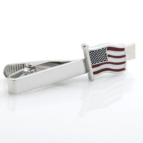 american-flag-usa-patriotic-tie-clip-silver-blk-wedding-bar-clasp