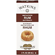 Watkins All Natural Extract, Imitation Rum, 2 Ounce (Pack of 6) (Packaging may vary)