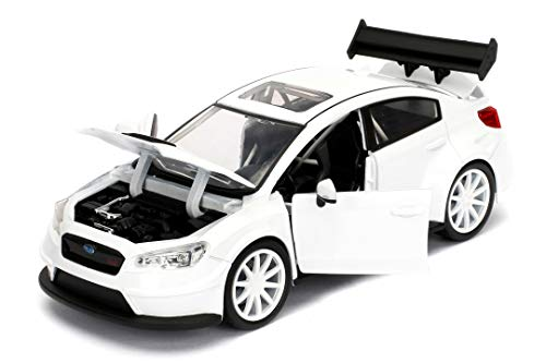 Jada Toys Fast & Furious 1:24 Mr. Little Nobody's Subaru WRX STI Die-cast Car, Toys for Kids and Adults, White (98296) 2