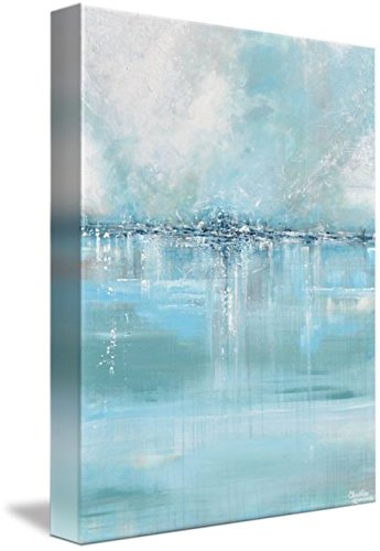 Wall Art Print entitled ''Seaglass'' - Blue Abstract Painting by Christine Krainock | 36 x 48 by Imagekind