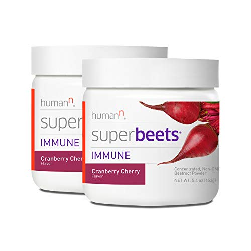 HumanN SuperBeets Immune Concentrated Non-GMO Beetroot Immune System Supporting Supplement (Cranberry Cherry, 5.4-Ounce, 2-Pack) by HumanN (Image #9)