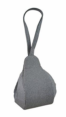 Zeckos - Cartera de mano con asa de Poliéster para mujer gris plata