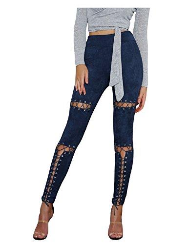 Letuwj Cross Dchir Bleu Pantalons Marine Criss Jean Femme Femme ZAq6rZ