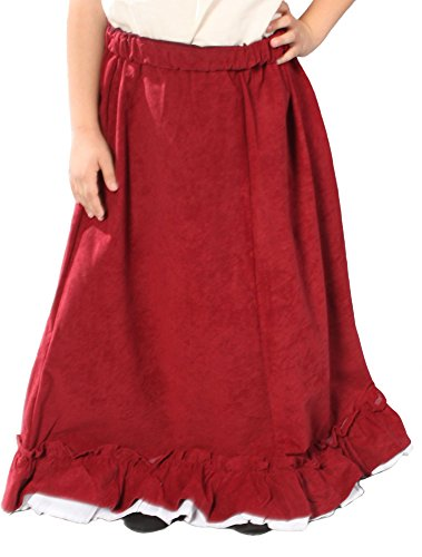 Alexanders Costumes Girls Renaissance Peasant Skirt, Burgundy, Medium]()