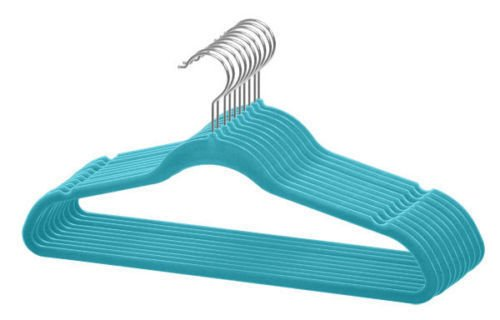 nobrand Waller PAA New 120 Pack 120PC Slim Space Saving Non-Slip Velvet Velour Hangers (Blue) from nobrand