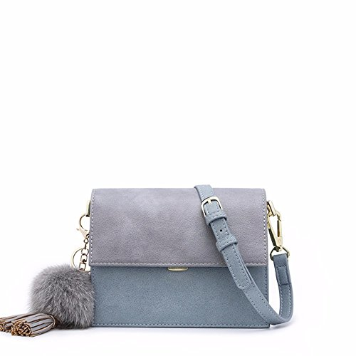 il 2018, nuovo tipo di wild borsa skew popolano, ampia tracolla piccola piazza borsa borsa di donne alla moda,wathet Wathet