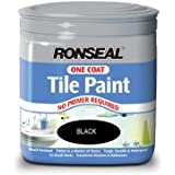 Ronseal One Coat Tile Paint - Black by Ronseal